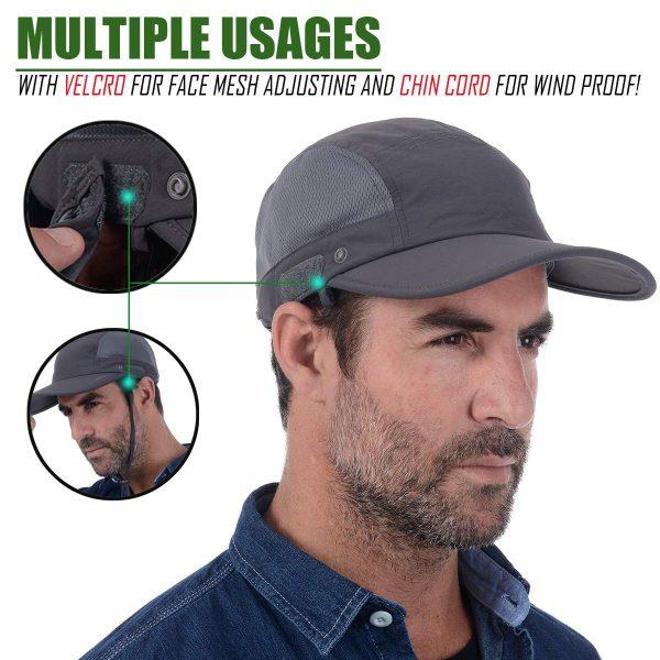 USHAKE cap with neck flap